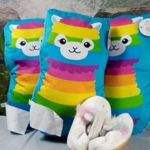 Other - Plush Pillows for babies + kids with Slippers